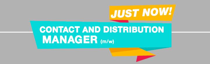 Wir suchen einen Contact and Distribution Manager (m/w)