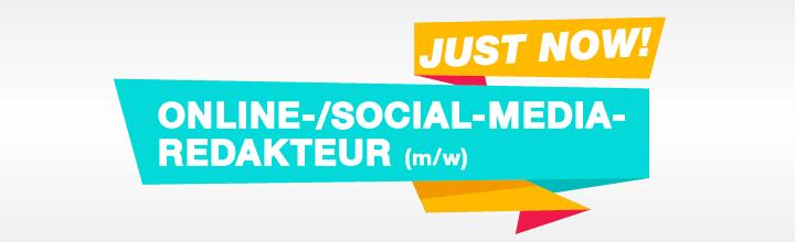 Wir suchen einen Online- und Social-Media-Redakteur (m/w)