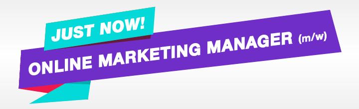 Wir suchen einen Online Marketing Manager (m/w)