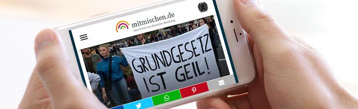 mitmischen.de: jungvornweg betreut ab sofort auch das Jugendportal des Deutschen Bundestags